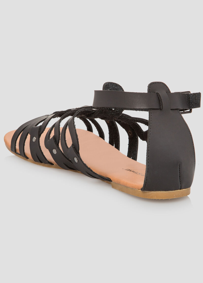Caged Short Gladiator Sandal Wide Width Women S Shoes