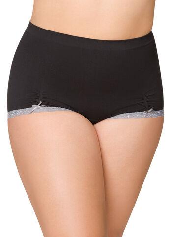 Ruched Lace Seamless Boyleg Panty