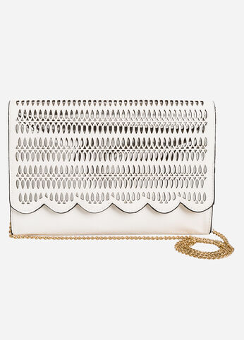 Laser Cut Shoulder Bag
