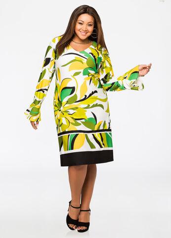 Graphic Floral Print Dress