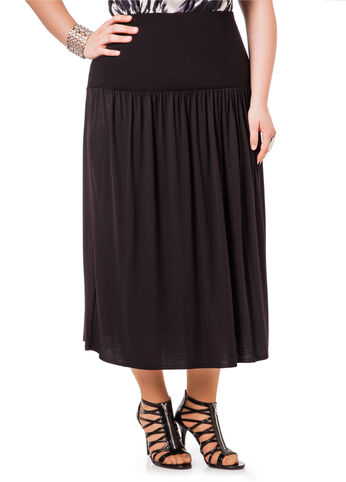 Fitted Top Shirred Skirt