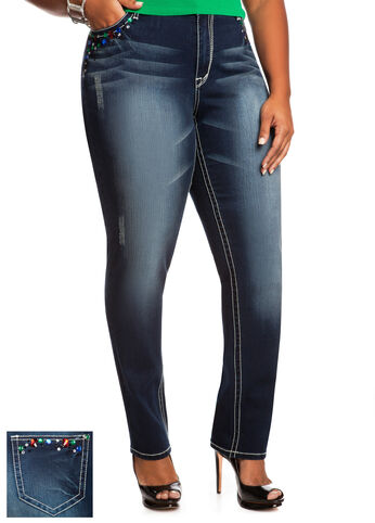 Jeweled Skinny Jean