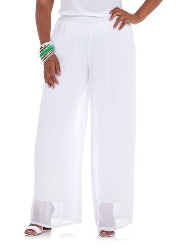 Wide Leg Chiffon Pants