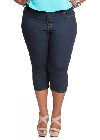 Indigo Basic Denim Capri
