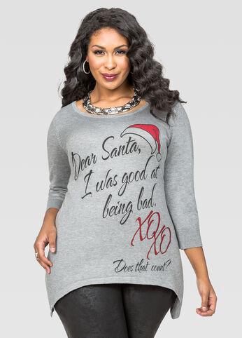 Dear Santa Sharkbite Holiday Sweater