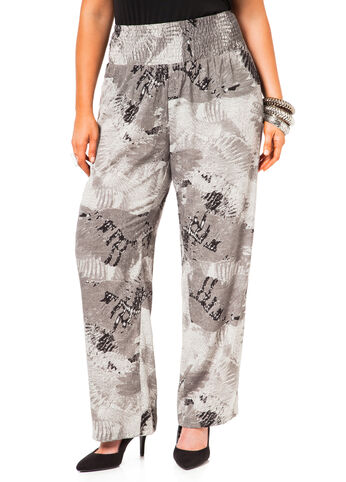 Printed Smocked Waist  Pants
