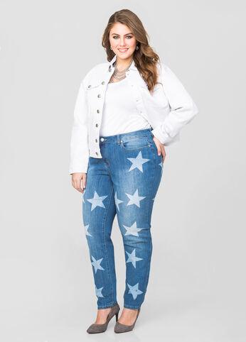 Star Print Skinny Jean