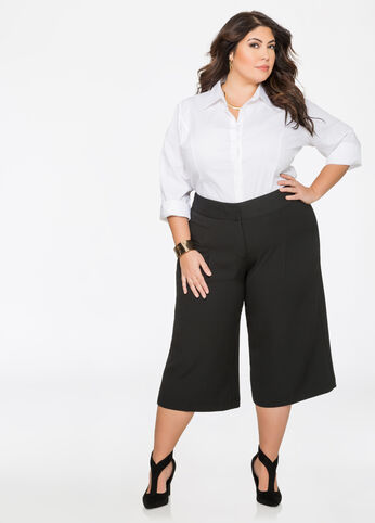 Pleat Front Gaucho Trouser
