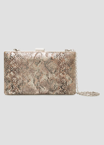 Metallic Snake Framed Clutch at Ashley Stewart