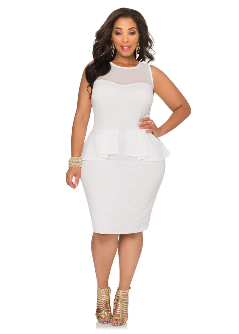 Shop for WHITE 2X Plus Size Lace Yoke Peplum Dress online at $ and discover fashion at jelly555.ml Cheapest and Latest women & men fashion site including categories such as dresses, shoes, bags and jewelry with free shipping all over the world.