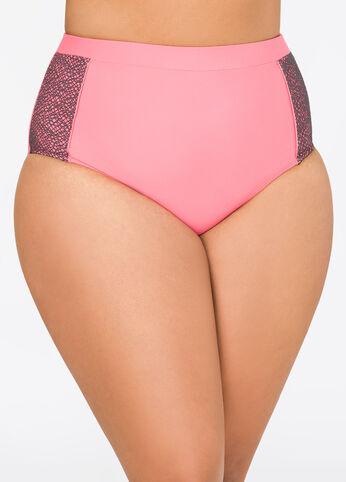 Neon Power Mesh Bikini Bottom