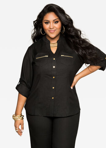 Plus Size Tops Shirts &amp Blouses Size 12 - 32 | Ashley Stewart