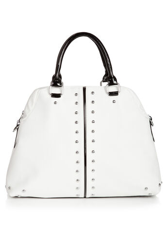 Silver Stud Satchel Bag