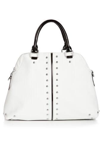 Silver Stud Satchel Bag