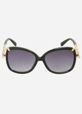 Embossed Square Sunglasses