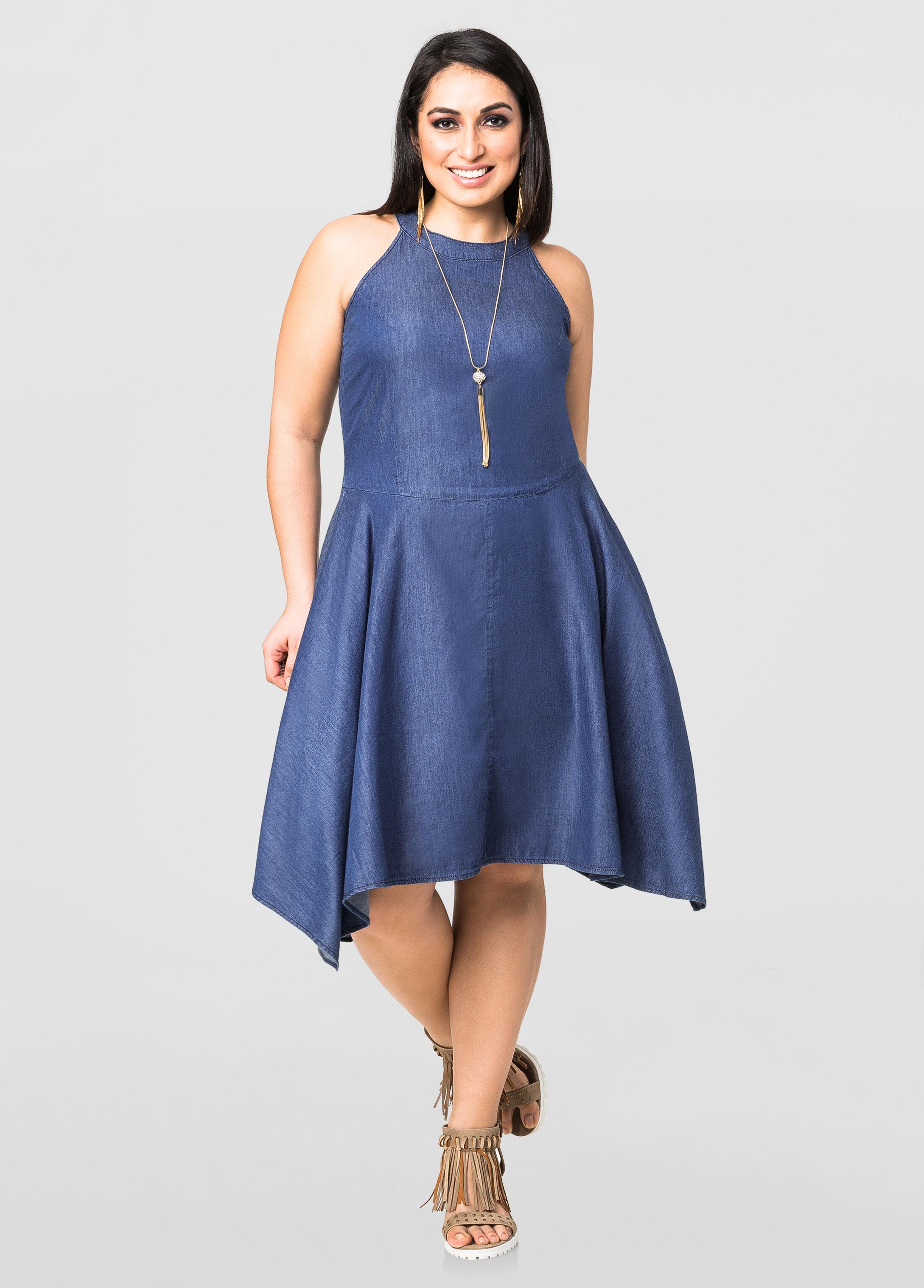 Jean Dress Plus Size 97SEnphn
