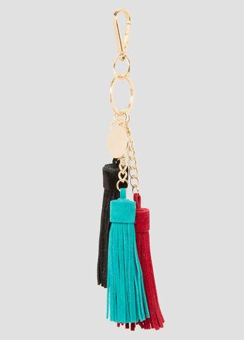 Triple Tassel Handbag Charm