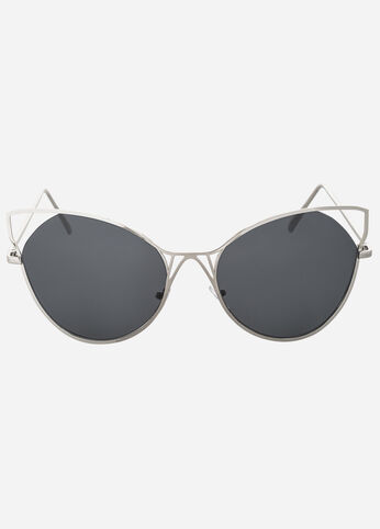 Extreme Cat Eye Cut-Out Sunglasses