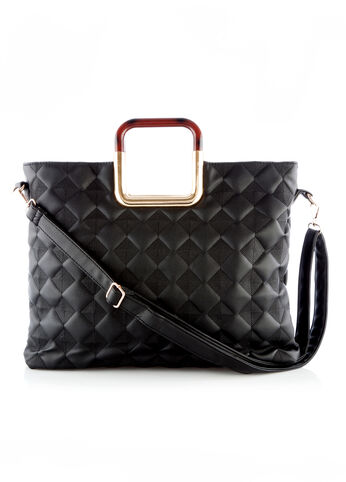 Quilted Diamond Satchel