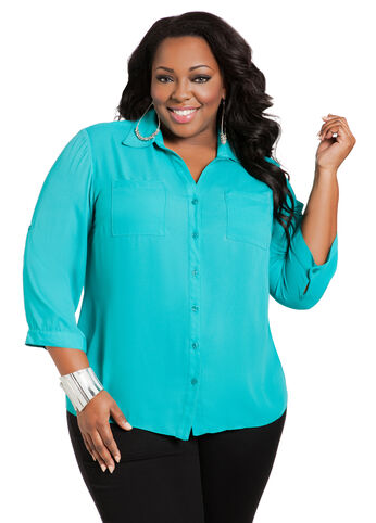 2-Pocket Utility Blouse