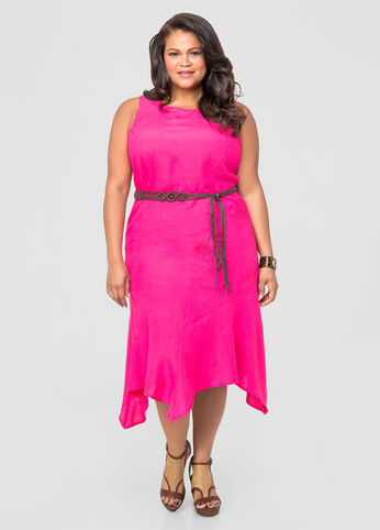Hanky Hem Linen Dress
