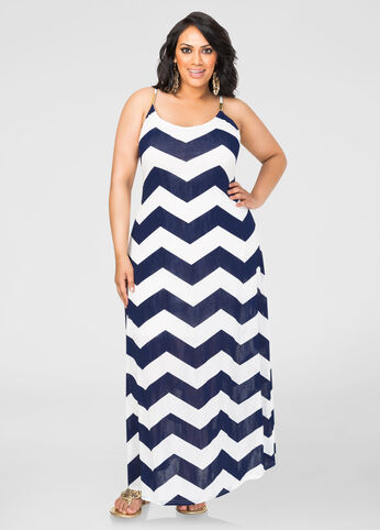 Bold Chevron Maxi Dress
