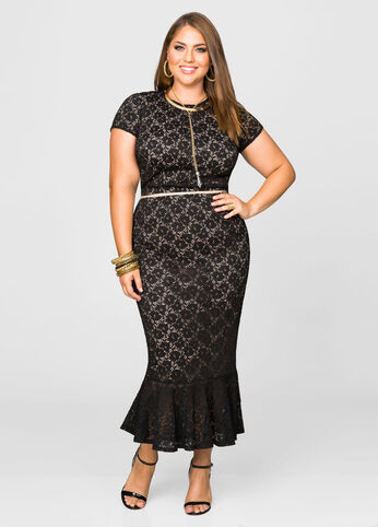 Stretch Lace Mermaid Skirt