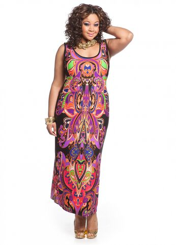 Paisley and Floral Print Maxi