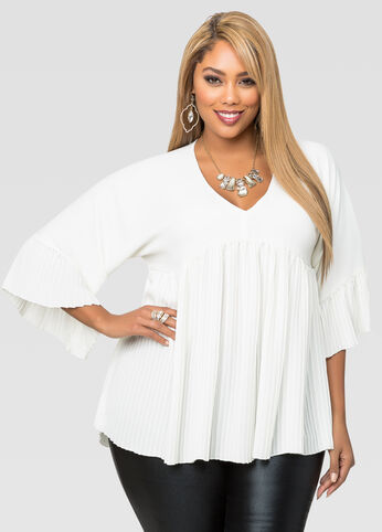 Plisse Pleat Swing Top