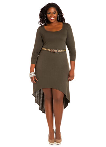 Belted Hi-Lo Dress