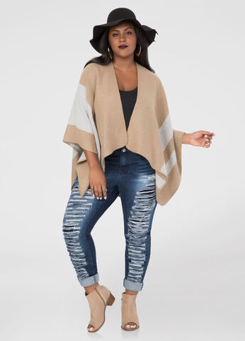 Reversible Two-Tone Ruana