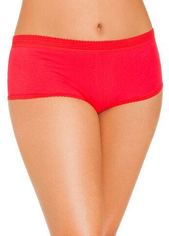 Red Cotton Full Coverage Briefs