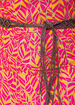 Printed Hanky Hem Linen Dress
