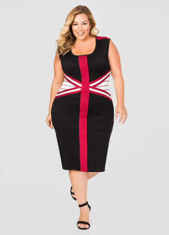 Criss Cross Bandage Sweater Dress