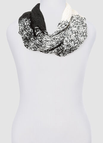 Marled Colorblock Infinity Scarf at Ashley Stewart