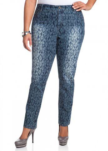 Ikat Print Skinny Jean
