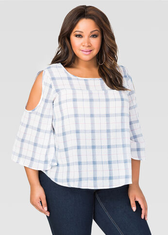 Plaid Boxy Top