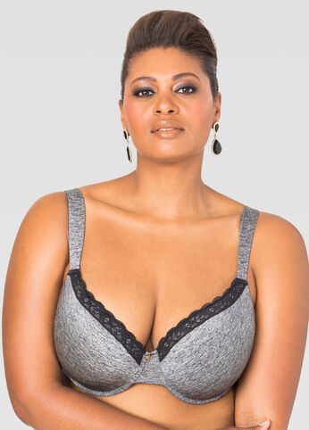 Heathered T-Shirt Bra - C-Cup
