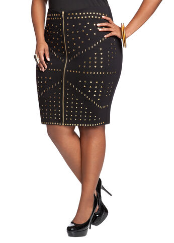 Stud Accent Skirt