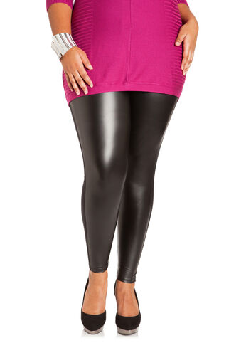 Faux Leather & Ponte Leggings