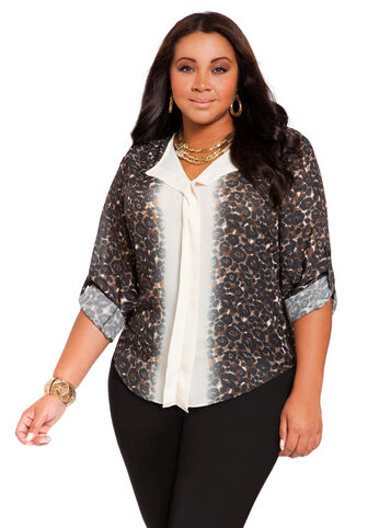 Mirror Animal Print Top