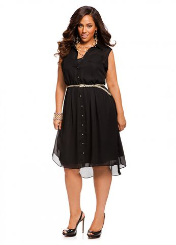 Web Exclusive: Braided Belt Hi Lo Dress