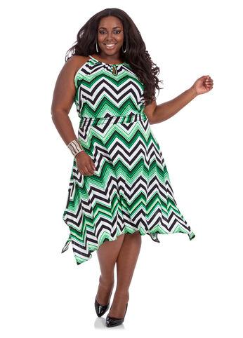 Hanki Hem Cutaway Smockwaist Dress