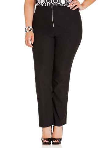 Skinny High Waist Zip Front