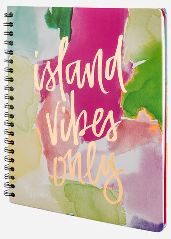 Island Vibes Only Spiral Notebook
