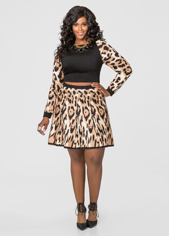 Cheetah Print Flippy Skirt