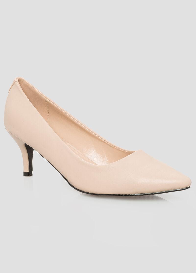 Short Heel Pointy Pump-Wide Width Women&39s Shoes-Ashley Stewart-068