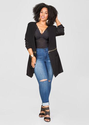Long Zip Waist Jacket