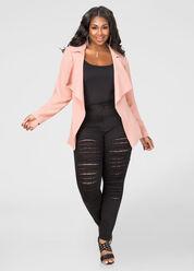 Lace Lined Slit Skinny Jean