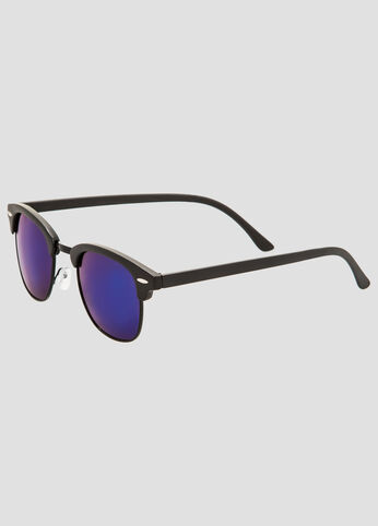 Flash Lens Clubmaster Sunglasses